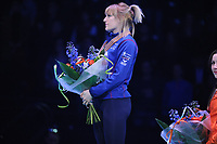 SHORT TRACK: ROTTERDAM: Ahoy, 12-03-2017, KPN ISU World Short Track Championships 2017, Podium 1000m Ladies, Elise Christie (GBR), ©photo Martin de Jong
