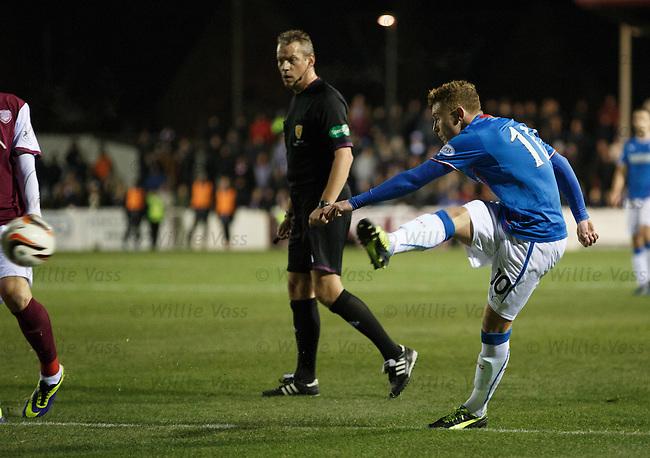 Lewis Macleod scires goal no 2
