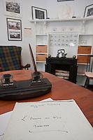 """Europe/France/Nord-Pas-de-Calais/59/Nord/ Saint-Jans-Cappel: Musée Marguerite Yourcenar,  le bureau de l""""écrivain"""