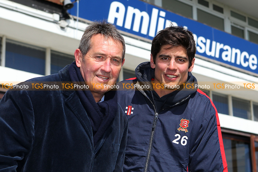 Alastair Cook of Essex and England (R) poses for a portrait with Graham Gooch in front of the pavilion - Essex County Cricket Club Press Day at the Essex County Ground, Chelmsford, Essex - 02/04/13 - MANDATORY CREDIT: Gavin Ellis/TGSPHOTO - Self billing applies where appropriate - 0845 094 6026 - contact@tgsphoto.co.uk - NO UNPAID USE.