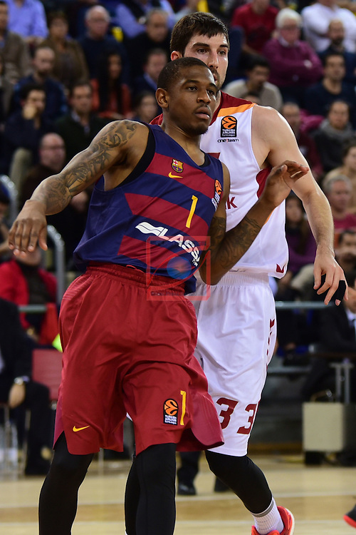 Turkish Airlines Euroleague 2016/2017.<br /> Regular Season - Round 22.<br /> FC Barcelona Lassa vs Galatasaray Odeabank Istanbul: 62-69.<br /> Xavier Munford vs Jon Diebler.