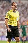 Referee Mateu Lahoz during La Liga match between Real Madrid and Real Betis at Santiago Bernabeu Stadium in Madrid, Spain September 20, 2017. (ALTERPHOTOS/Borja B.Hojas)