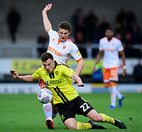 Blackpool's Matty Virtue vies for possession with Burton Albion's Kieran Wallace<br /> <br /> Photographer Chris Vaughan/CameraSport<br /> <br /> The EFL Sky Bet League One - Burton Albion v Blackpool - Saturday 16th March 2019 - Pirelli Stadium - Burton upon Trent<br /> <br /> World Copyright &copy; 2019 CameraSport. All rights reserved. 43 Linden Ave. Countesthorpe. Leicester. England. LE8 5PG - Tel: +44 (0) 116 277 4147 - admin@camerasport.com - www.camerasport.com