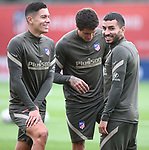 Atletico de Madrid's Nehuen Perez, Jose Maria Gimenez and Angel Correa during training session. September 17,2020.(ALTERPHOTOS/Atletico de Madrid/Pool)