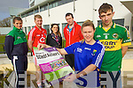IT Sports Scholarships for 2013/2014 pictured at the launch were l-r Monika Dukarska (Rowing for Ireland) Rory Deane (Football for Cork) Kristine Sheahan (Sports Officer) David O'Dea (GAA Officer) Shauna Hilley (Handball for Wicklow) and Damien Somers (Football for Kerry).