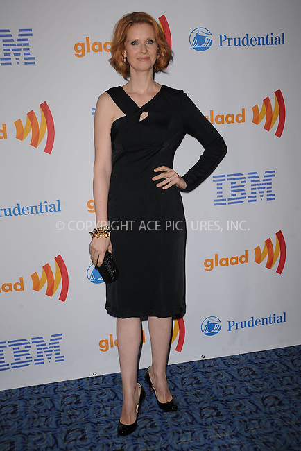 WWW.ACEPIXS.COM . . . . . ....March 13 2010, New York City....Honoree actress Cynthia Nixon attends the 21st Annual GLAAD Media Awards at The New York Marriott Marquis on March 13, 2010 in New York City. ....Please byline: KRISTIN CALLAHAN - ACEPIXS.COM.. . . . . . ..Ace Pictures, Inc:  ..(212) 243-8787 or (646) 679 0430..e-mail: picturedesk@acepixs.com..web: http://www.acepixs.com