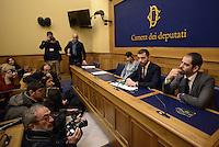 Roma, 27 Gennaio 2015.<br /> Mara Mucci, Walter Rizzetto e Marco Baldassarre.<br /> Conferenza stampa alla Camera dei Deputati dei 9 Parlamentari usciti dal Movimento 5 Stelle.