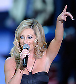 New York, NY - September 2, 2004 --  Country singer Lee Ann Womack performs following the acceptance speech of United States President George W. Bush at the 2004 Republican Convention in Madison Square Garden in New York, New York on Thursday, September 2, 2004.  .Credit: Ron Sachs / CNP.(RESTRICTION: No New York Metro or other Newspapers within a 75 mile radius of New York City)