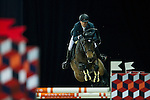 Simon Delestre on Stardust Quinhon competes during Massimo Dutti Trophy  at the Longines Masters of Hong Kong on 21 February 2016 at the Asia World Expo in Hong Kong, China. Photo by Juan Manuel Serrano / Power Sport Images