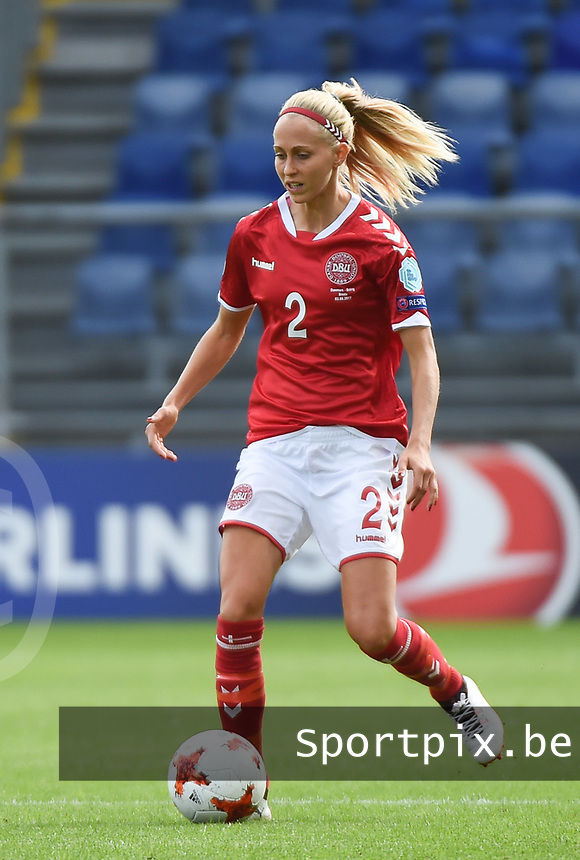 20170803 - BREDA , NETHERLANDS : Danish Line Roddik pictured during the female soccer game between Denmark and Austria  , the semi final at the Women's Euro 2017 , European Championship in The Netherlands 2017 , Thursday 3th of August 2017 at Stadion Rat Verlegh in Breda , The Netherlands PHOTO SPORTPIX.BE | DIRK VUYLSTEKE