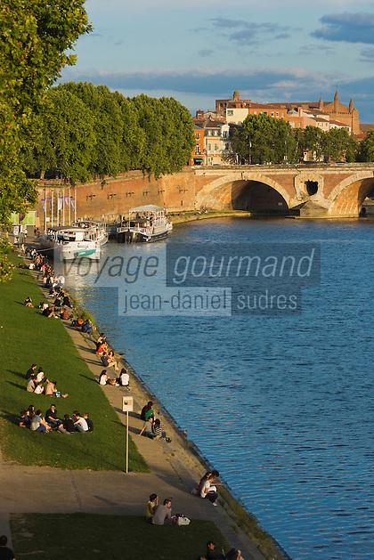 Europe/France/Midi-Pyrénées/31/Haute-Garonne/Toulouse: Les berges de la  Garonne