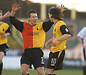 29/01/2005  Copyright Pic : James Stewart.File Name : jspa05_partick v raith.ANDY ROSS IS CONGRATULATED BY BILLY GIBSON AFTER HE SCORES PARTICK'S FIRST GOAL.....Payments to :.James Stewart Photo Agency 19 Carronlea Drive, Falkirk. FK2 8DN      Vat Reg No. 607 6932 25.Office     : +44 (0)1324 570906     .Mobile   : +44 (0)7721 416997.Fax         : +44 (0)1324 570906.E-mail  :  jim@jspa.co.uk.If you require further information then contact Jim Stewart on any of the numbers above.........A