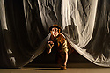 """Ipswich, UK. 11.12.2018. Luca Silvestrini's Protein presents """"The Little Prince"""", a new show about love and friendship for children and adults alike, based on the book by Antoine de Saint-Exupéry, at Dance East.  The show is touring in Eastleigh, Ipswich and Falmouth, from the 1st to the 22nd December 2018. Conceived and directed by Luca Silvestrini, the production is devised and performed by Andrew Gardiner (Fox, Geographer, Lamplighter), Donna Lennard (King, Roses, Counting Man), Faith Prendergast (Little Prince), Karl Fagerlund  Brekke (Pilot). Lighting design is by Jackie Shemesh, set and costume design by Yann Seabra, animation by Daniel Denton and the music composed by Frank Moon. Photograph © Jane Hobson."""