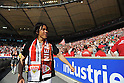 Shinji Okazaki (Stuttgart), MAY 7th, 2011 - Football : Shinji Okazaki of Stuttgart celebrates with fans after winning the Bundesliga match between VfB Stuttgart 2-1 Hannover 96 at Mercedes-Benz Arena in Stuttgart, Germany. (Photo by FAR EAST PRESS/AFLO)