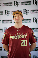 Connor Donohue (20) of Missoula, Montana during the Baseball Factory All-America Pre-Season Tournament, powered by Under Armour, on January 12, 2018 at Sloan Park Complex in Mesa, Arizona.  (Zachary Lucy/Four Seam Images)