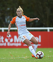 20181027 - CAMPHIN-EN-PEVELE , FRANCE : Montpellier's Janice Cayman  pictured during the 8 th competition game between the women teams of Lille OSC and Montpellier Herault Sporting Club in the 2018-2019 season of the first Division - Ligue 1 at Domaine de Luchin , Saturday 27th Octobre 2018 ,  PHOTO Dirk Vuylsteke   Sportpix.Be