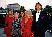 American actress, director, screenwriter and singer Connie Stevens, second right, and guests arrive at the John F. Kennedy Center for the Performing Arts for the Joe Gibbs Charities Gala on June 20, 1989.<br /> Credit: Ron Sachs / CNP