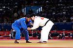 Engeland, London, 30 juli 2012.Olympische Spelen London.Het olympisch judotoernooi is voor Dex Elmont uiteindelijk op een deceptie uitgelopen. De tweevoudig vice-wereldkampioen, die lange tijd op medaillekoers lag, bleek in de bronzen strijd (klasse - 73 kilogram) niet opgewassen tegen Nyam-Ochir Sainjargal uit Mongolië. Daarmee eindigde hij op een gedeelde vijfde plek..