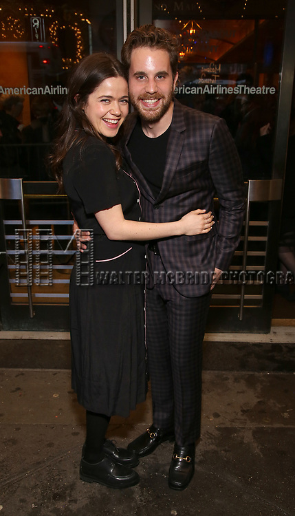 """Ben Platt and Molly Gordon Attends the Broadway Opening Night of """"All My Sons"""" at The American Airlines Theatre on April 22, 2019  in New York City."""