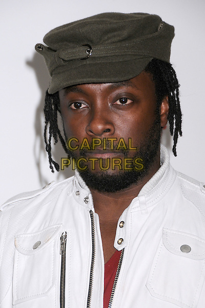 WILL.I.AM..Maxim's Hot 100 Party 2008 at Paramount Studios, Hollywood, California, USA..May 21st, 2008.headshot portrait william will. i. am. green hat beard facial hair .CAP/ADM/BP.©Byron Purvis/AdMedia/Capital Pictures.