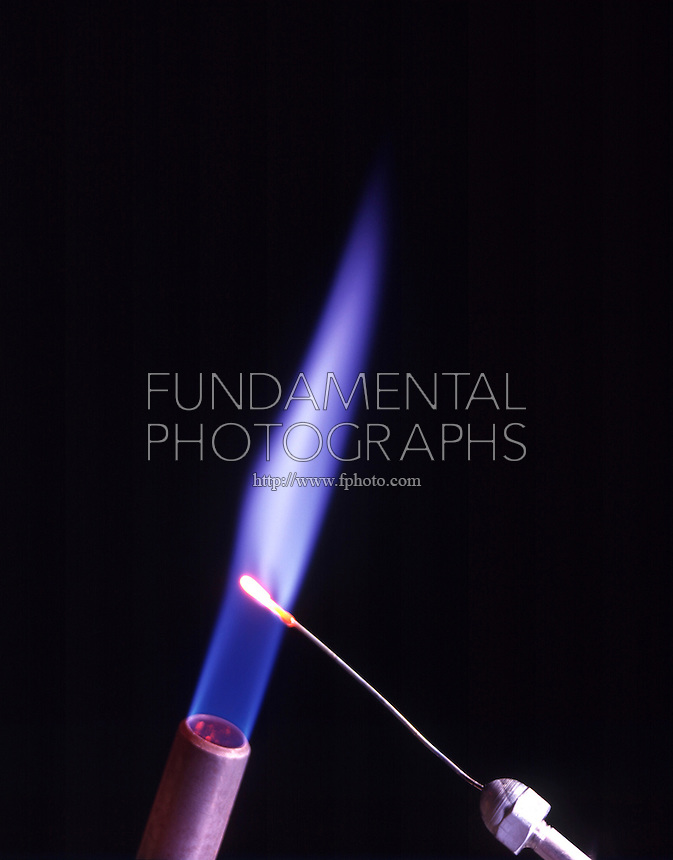 POTASSIUM FLAME TEST<br /> (Variations Available)<br /> Lilac Flame Shows Presence Of Lithium.(Alkali metal)<br />  Potassium compound is dissociated by flame into gaseous atoms, not ions. The atoms of the element are raised to excited state by high temperature of flame. Excess energy from the atom is emitted as light of a characteristic wavelength.