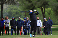 Jack Senior (ENG) on the 16th tee during Round 4 of the Challenge Tour Grand Final 2019 at Club de Golf Alcanada, Port d'Alcúdia, Mallorca, Spain on Sunday 10th November 2019.<br /> Picture:  Thos Caffrey / Golffile<br /> <br /> All photo usage must carry mandatory copyright credit (© Golffile | Thos Caffrey)