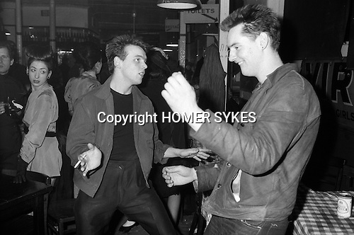Blitz Kids New Romantics at The Blitz Club Covent Garden, London, England 1980.