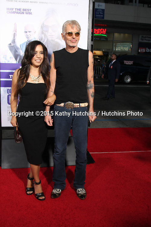 "LOS ANGELES - OCT 26:  Connie Angland, Billy Bob Thornton at the ""Our Brand is Crisis"" LA Premiere at the TCL Chinese Theater on October 26, 2015 in Los Angeles, CA"