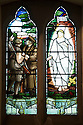11/06/16<br /> <br /> Stained glass window in church inspired by postcard found in Charles' pocket when he was wounded.<br /> <br /> One hundred years have passed since Private Charles Gordon Shaw was fatally wounded in the Battle of the Somme, but today is the first day his family have been able to grieve at his graveside.<br /> <br /> Full Story: https://fstoppressblog.wordpress.com/private_charles_shaw/<br /> <br /> <br /> That&rsquo;s because his grave was &ldquo;lost&rdquo; during a changeover in church vicars and when the Commonwealth War Graves Commission tried to place a headstone on his plot in 1926, the new vicar was unable to tell them where the body was buried.<br /> <br /> But today, thanks to detective work by his  niece, 83-year-old Dorris Innes from Spondon, together with an amateur historian who located the &lsquo;lost&rsquo; grave, Private Shaw&rsquo;s family were finally able to pay their respects to the war hero, with a commemorative service at his grave, exactly 100 years to the day since he was buried at Christ Church in Stonegravels, Chesterfield.<br /> <br /> All Rights Reserved, F Stop Press Ltd.