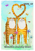 Kate, CUTE ANIMALS, LUSTIGE TIERE, ANIMALITOS DIVERTIDOS, paintings+++++,GBKM62,#ac#, EVERYDAY ,cat,cats