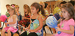 Gary Wilcox/staffÉ06/27/08. Cultural Center at Ponte Vedra Beach students Olivia Scioscia,(cq) Alexandra Papageorge and Ella Richardson  perform in the Cultural Center concert last Friday (06/27/08). The students made their own instruments and worked with a professional musician throughout the weeklong Performing and Visual Arts camp at the Cultural Center Performing and Visual Arts...
