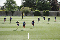 Bath Rugby forwards in action. Bath Rugby training session on August 4, 2015 at Farleigh House in Bath, England. Photo by: Patrick Khachfe / Onside Images