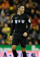 Referee Mark Clattenburg during the Barclays Premier League match between Norwich City and Swansea City played at Carrow Road, Norwich on November 7th 2015