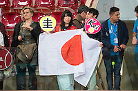 Japanese supporters with flags during Mutua Madrid Open Tennis 2016 in Madrid,  May 06, 2016. (ALTERPHOTOS/BorjaB.Hojas) /NortePhoto.com /NortePhoto