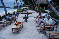 Guests Enjoy Strawberry Margaritas before Dinner, Turtle Island, Yasawa Islands, Fiji