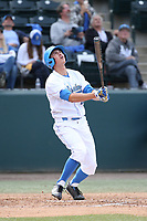 Jeremy Ydens (18) of the of UCLA Bruins bats against the University of San Diego Toreros at Jackie Robinson Stadium on March 4, 2017 in Los Angeles, California.  USD defeated UCLA, 3-1. (Larry Goren/Four Seam Images)