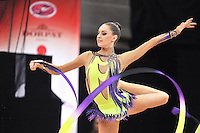 "February 8, 2014 - Tartu, Estonia - CARMEL KALLEMAA of Estonia performs at ""Miss Valentine 2014"" international tournament."