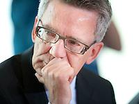 Berlin, Bundesinnenminister Thomas de Maiziere (CDU) am Mittwoch (17.09.2014) im Bundeskanzleramt vor der Kabinettsitzung. Foto: Steffi Loos/CommonLens