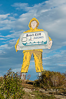 Huge Beach Cliff Sardine sign, Winter Harbor, Maine, ME, USA