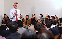 Jeffery R Immelt, Chairman & CEO General Electric, Surrounded by Students in Q&A, Fielding Questions at Yale University, School of Management Leaders Forum on 17 February 2004. Photo Credit: James R Anderson