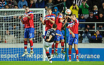 Mark Millar's free-kics sails over the Rangers wall and into the net for the winning goal