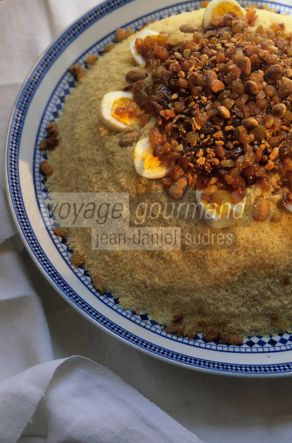 """Europe/France/Ile-de-France/Paris: Restaurant """"La Mansouria"""" - Service des couscous - Couscous oeuf dur"""