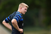 Oli Cattell of Bath Rugby looks on. Bath Rugby pre-season training on August 8, 2018 at Farleigh House in Bath, England. Photo by: Patrick Khachfe / Onside Images
