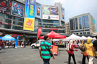 Toronto (ON) CANADA - July 2012 -Dundas square beside  EATON CENTRE