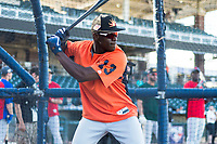 AFL East outfielder Daz Cameron (13), of the Mesa Solar Sox and Detroit Tigers organization, during batting practice before the Arizona Fall League Fall Stars game at Surprise Stadium on November 3, 2018 in Surprise, Arizona. The AFL West defeated the AFL East 7-6 . (Zachary Lucy/Four Seam Images)