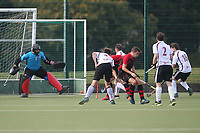 Wapping score their first goal during Havering HC vs Wapping HC 2nd XI, East Region League Field Hockey at Campion School on 13th October 2018