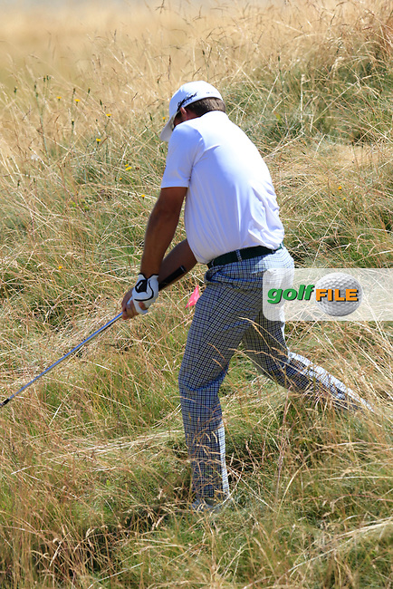 Graeme McDOWELL (NIR) in the rough on the 11th hole during Wednesday's Practice Day of the 2015 U.S. Open 115th National Championship held at Chambers Bay, Seattle, Washington, USA. 6/17/2015.<br /> Picture: Golffile | Eoin Clarke<br /> <br /> <br /> <br /> <br /> All photo usage must carry mandatory copyright credit (&copy; Golffile | Eoin Clarke)