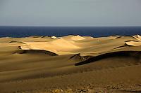 Sand dunes at Maspalomas, Gran Canaria,Canary Islands, Spain