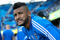 San Jose, CA - Saturday May 05, 2018: Anibal Godoy during a Major League Soccer (MLS) match between the San Jose Earthquakes and the Portland Timbers at Avaya Stadium.