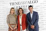Helene Svedin (l), Marie Castellvi and Luis Figo present new Cortefiel campaign at Los Gallos on October 17, 2019 in Madrid, Spain.(ALTERPHOTOS/ItahisaHernandez)